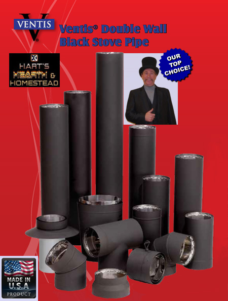 Ventis Double Wall Stovepipe Hart S Hearth Amp Homestead